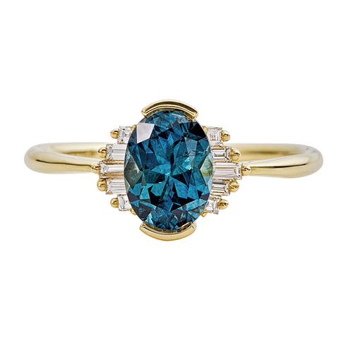 OOAK-Oval-Cut-Teal-Sapphire-Engagement-Ring-with-White-Diamond-Wings-closeup
