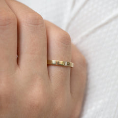 Baguette Wedding Band - Hers closed hand