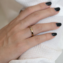 Baguette Wedding Band - Hers close up