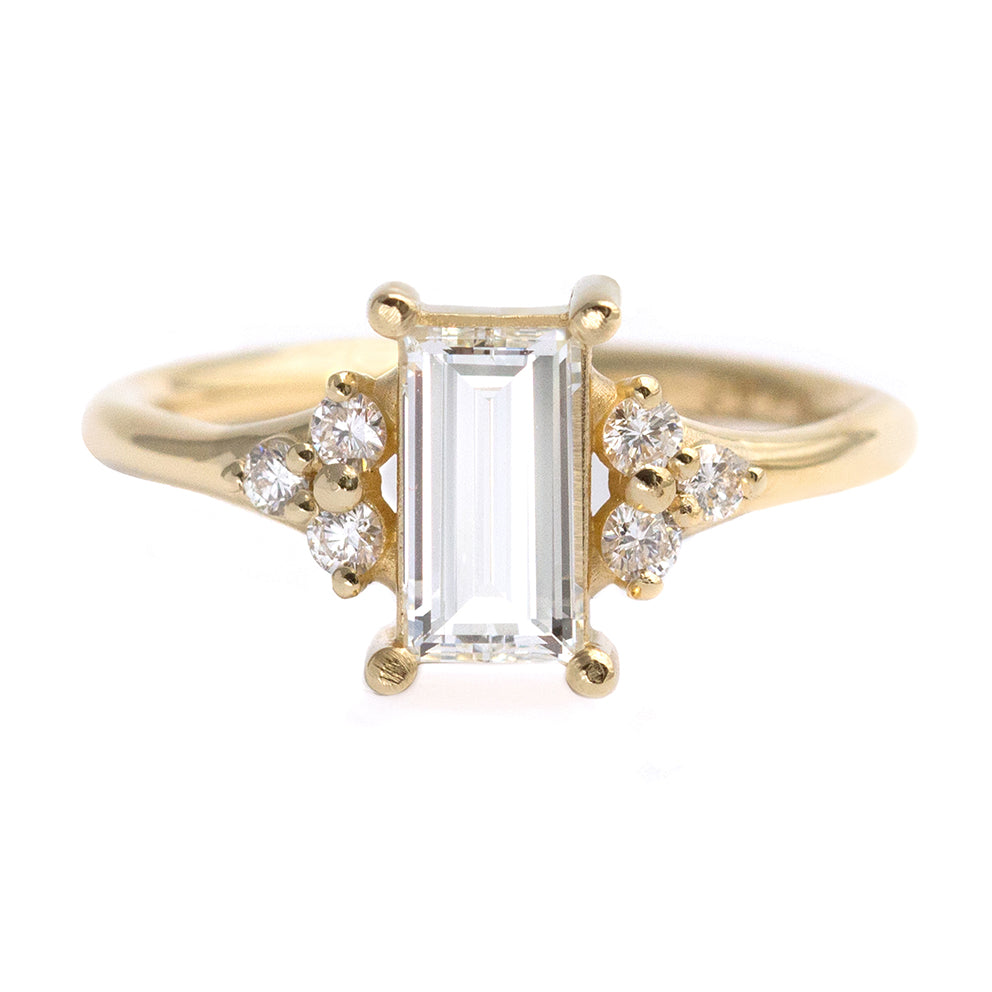 One Carat Baguette Diamond Engagement Ring