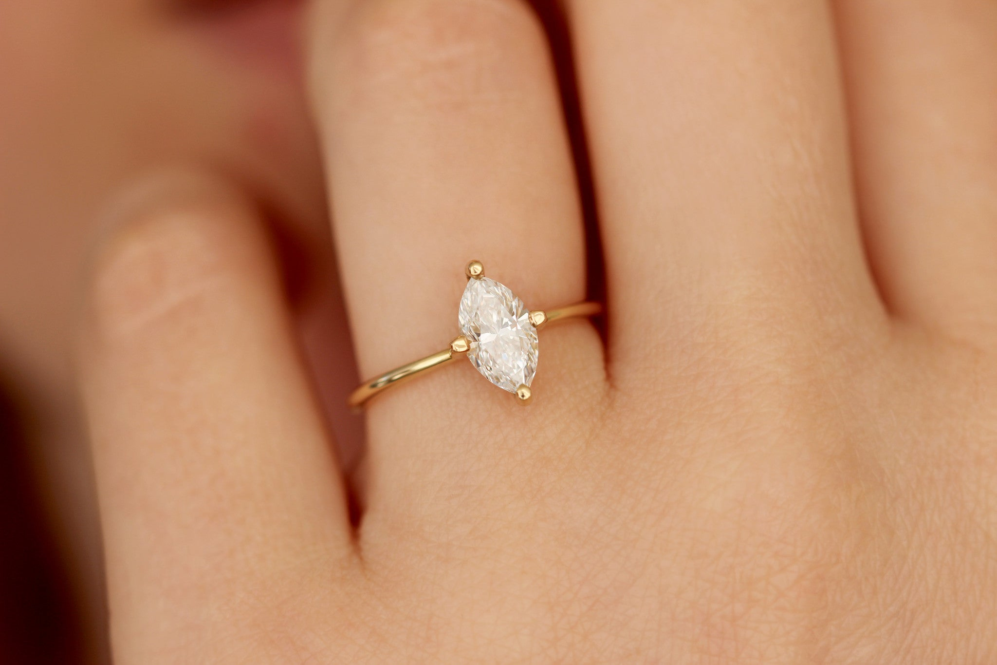 engagement vintage marquise shaped gold rings promise carat white marquis moissanite ring stones