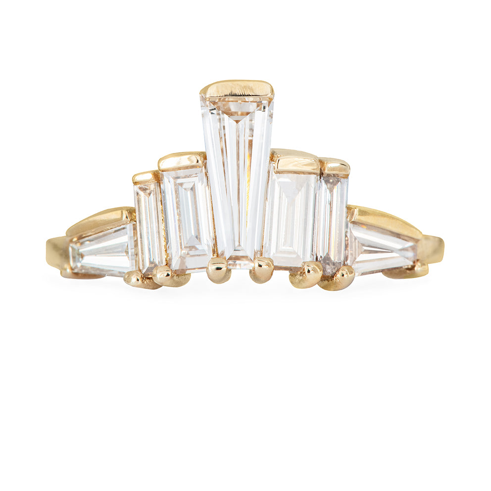 One of A Kind Baguette Diamond Tower Ring