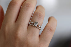 Oval Diamond Ring In A Set