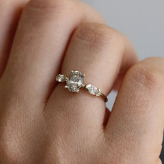 Oval Diamond Ring On Hand