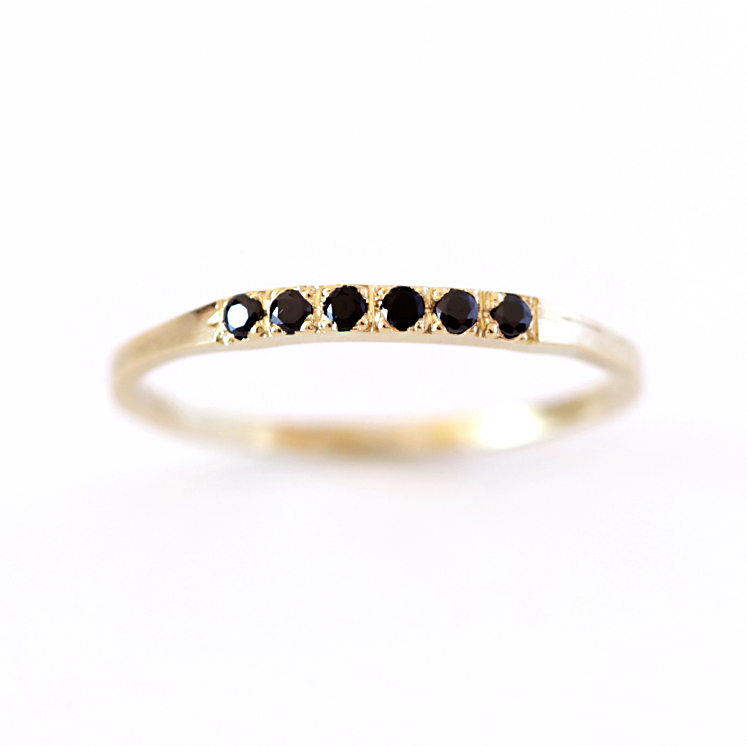 Pave Black Diamond Wedding Band