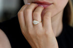Pear Diamond Cluster Ring For Women