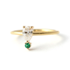 solid gold engagement ring diamond engagement ring emerald engagement ring