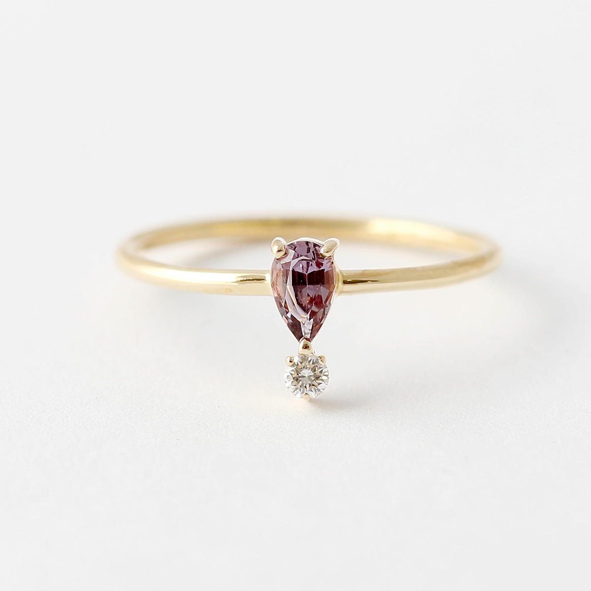gemstone white image in cushion ring engagement rings diamond purple gold dress amethyst