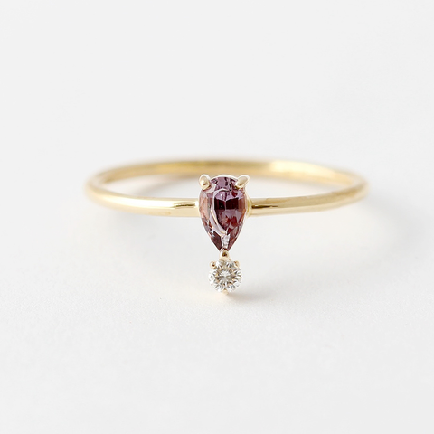 OOAK Purple Sapphire Engagement Ring