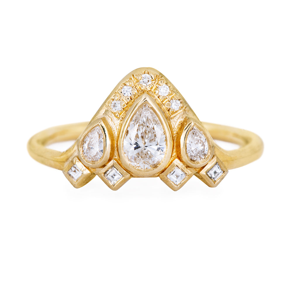 Birne geformt Diamant-Ring