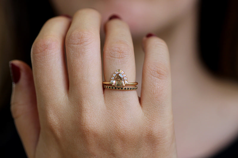 One Carat Pear Cut Diamond Ring on hand