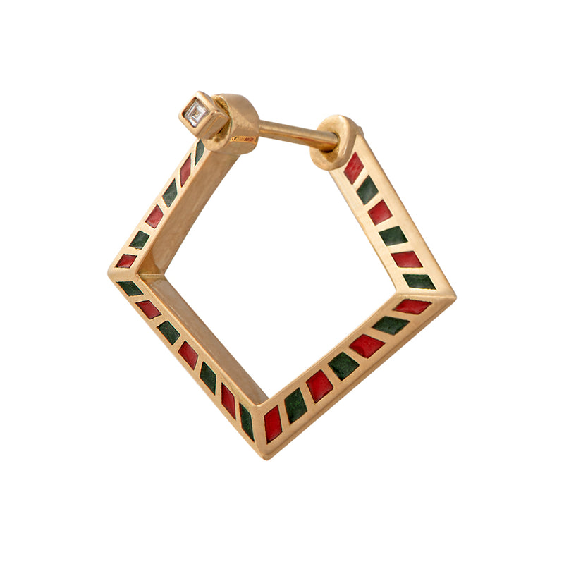 Pentagon-Hoop-Earrings-with-a-Geometric-Pattern-closeup