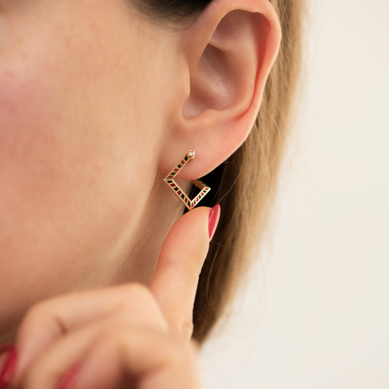 Pentagon-Hoop-Earrings-with-a-Geometric-Pattern-color