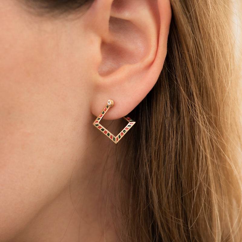Pentagon-Hoop-Earrings-with-a-Geometric-Pattern-top-shot