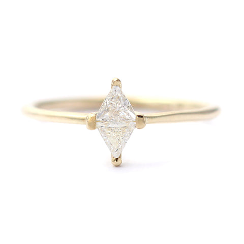 Rhombus Cut Diamond Ring