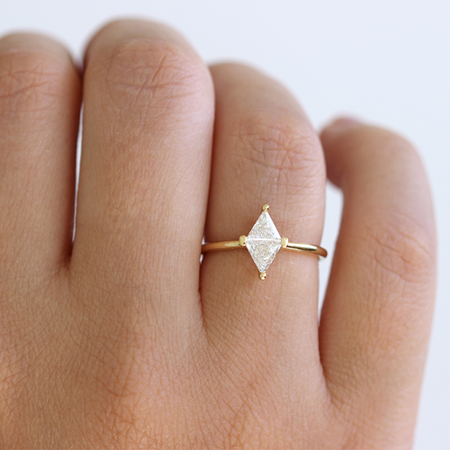 Rhombus Diamant-ring