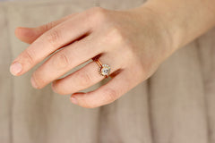 gray diamond engagement ring