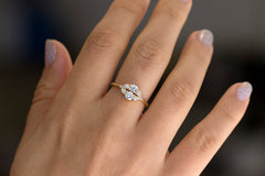 Round Diamond Cluster Ring For Women