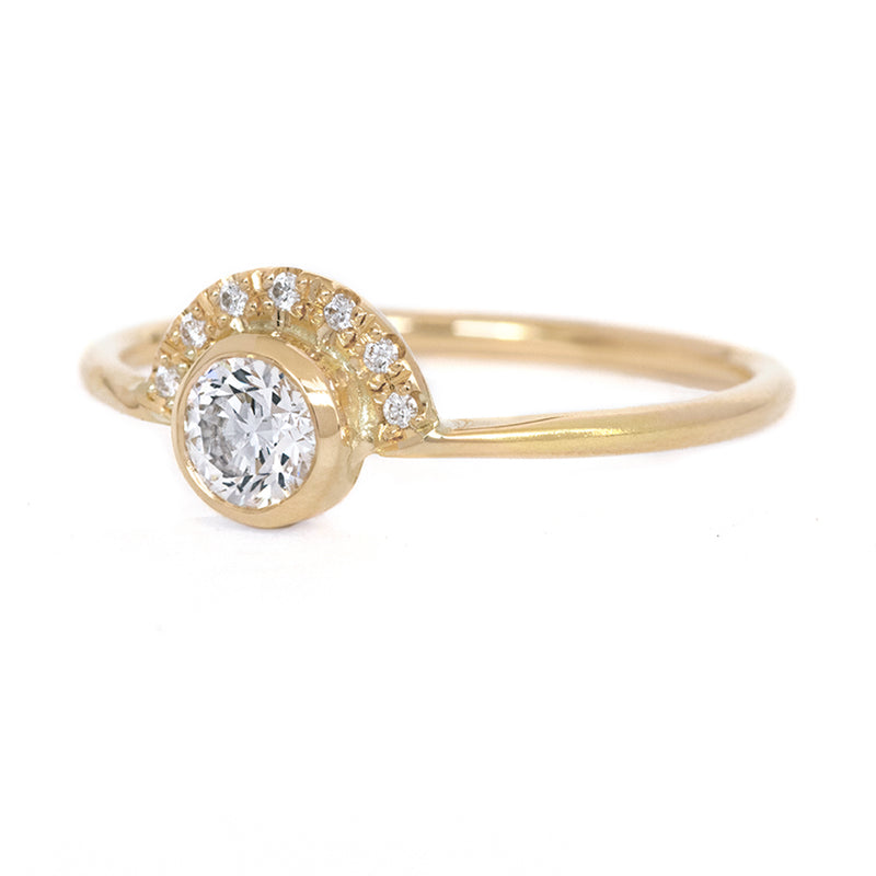 Round Diamond Crown Ring - 0.3 Carat Size View
