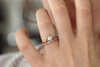 grey diamond engagement ring set