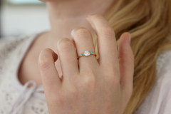 Turquoise Diamond Ring on hand