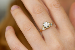 Two Carat Ring On Finger