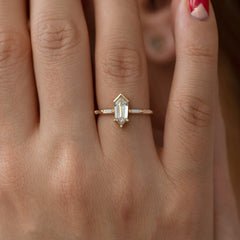 Shield Cut Diamond Engagement Ring - OOAK4