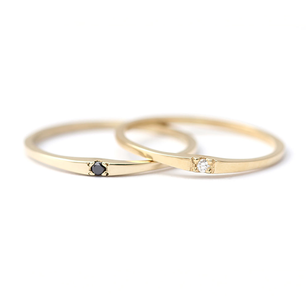 Single Small Diamond Wedding Band In A Set