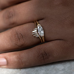 Solitaire-Oval-Diamond-Engagement-Ring-Elongated-Oval-Diamond-Ring-OOAK-side-shot-moment-in-set