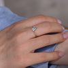 Solitaire Engagement Ring with Salt and Pepper Triangle Diamond model side angle
