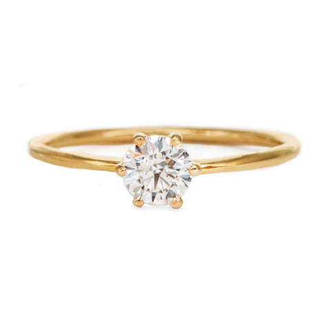 Solitaire Engagement Ring - Minimalist Diamond Ring