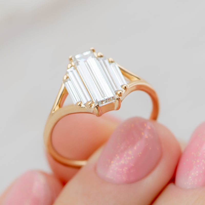 Symmetry-Engagement-ring-with-Five-Baguette-Cut-Diamonds-closeup-side-shot