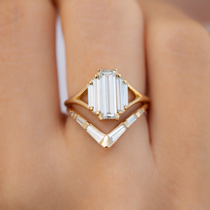 Symmetry-Engagement-ring-with-Five-Baguette-Cut-Diamonds-yop-shot-in-set