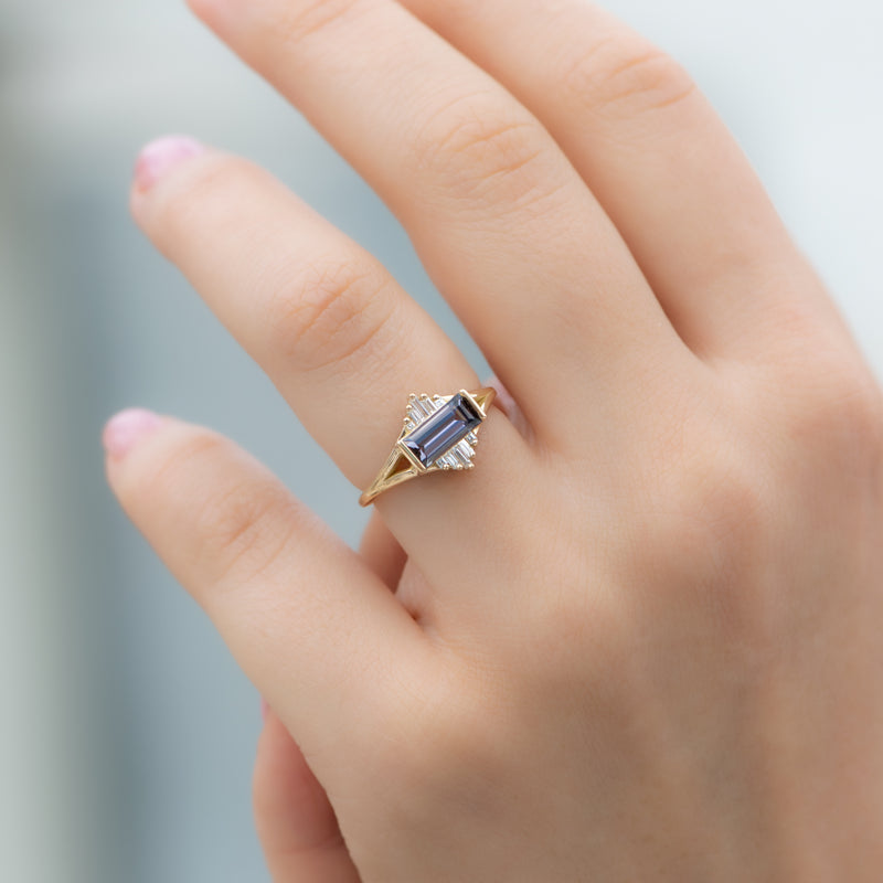 Tanzanite-Engagement-Ring-with-Baguette-Diamond-Pyramids-OOAK-top-shot