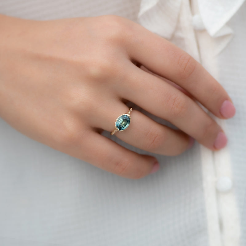 Teal-Sapphire-Engagement-Ring-with-Delicate-Diamond-Detailing-OOAK-yop-shot