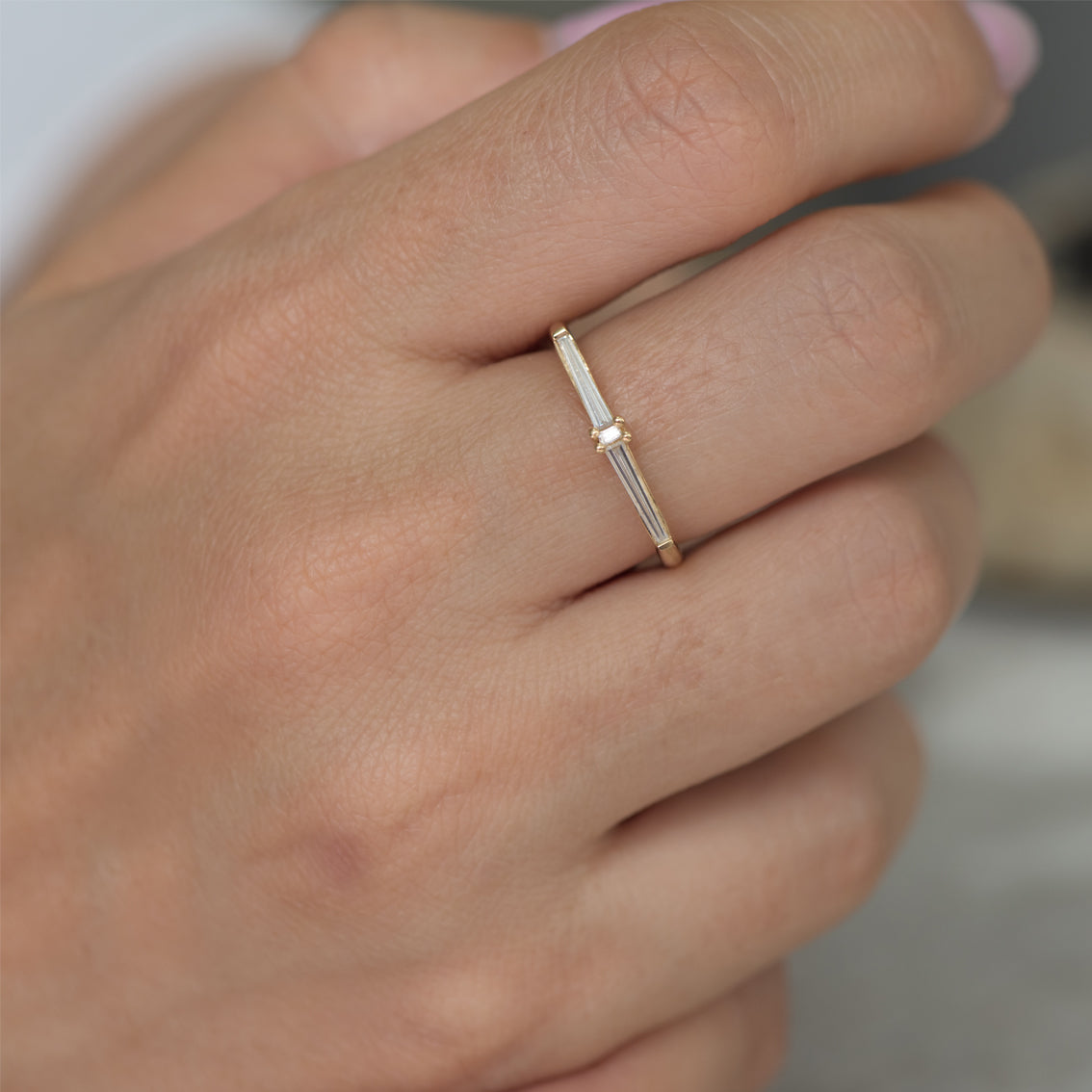Thin-Tapered-Baguette-Cluster-Ring-Alternative-Wedding-Ring-top-shot