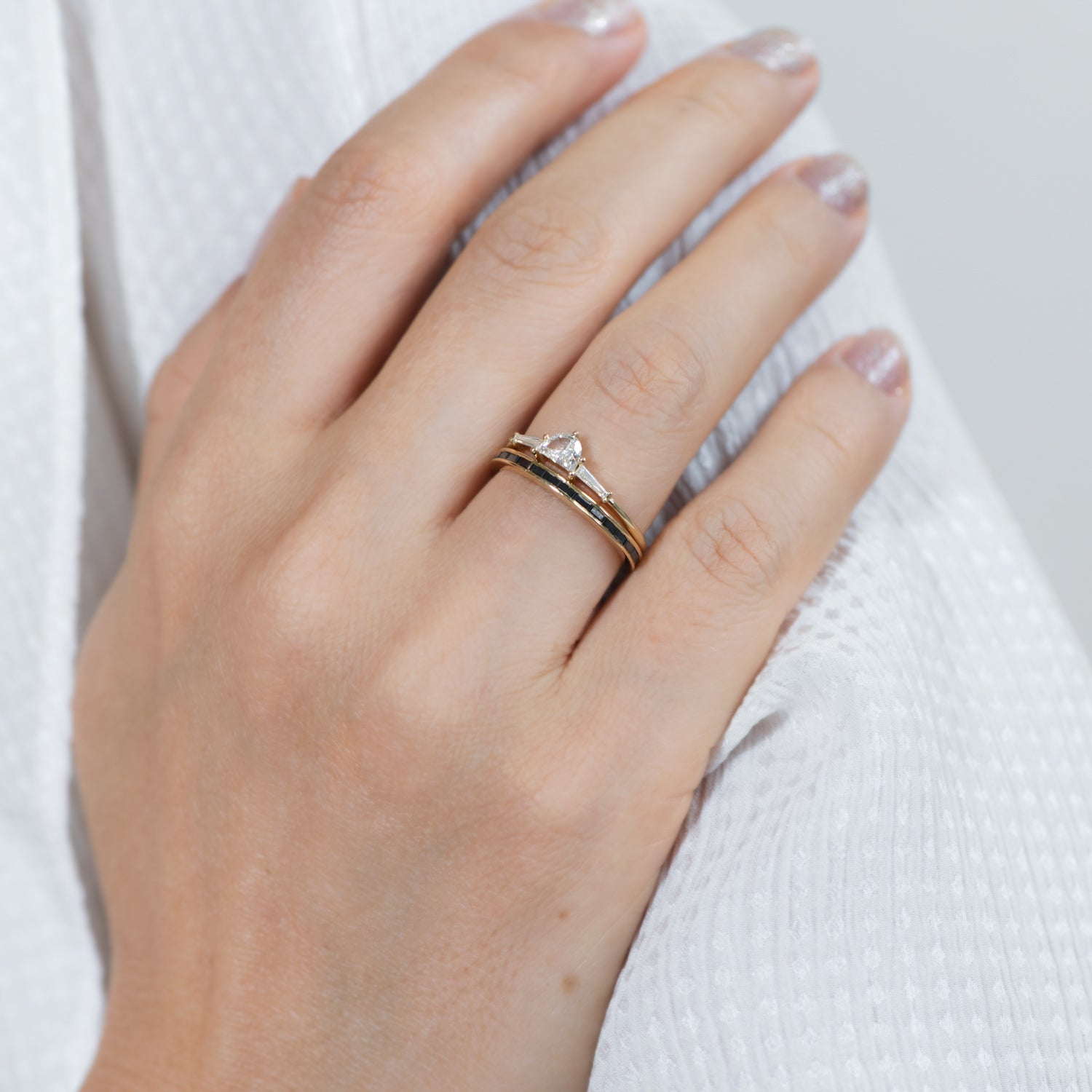 Three-Stone-Engagement-Ring-with-Half-Moon-and-Baguette-Cut-Diamonds-side-shot-in-set