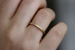 Triangle Pattern Wedding Band On Finger