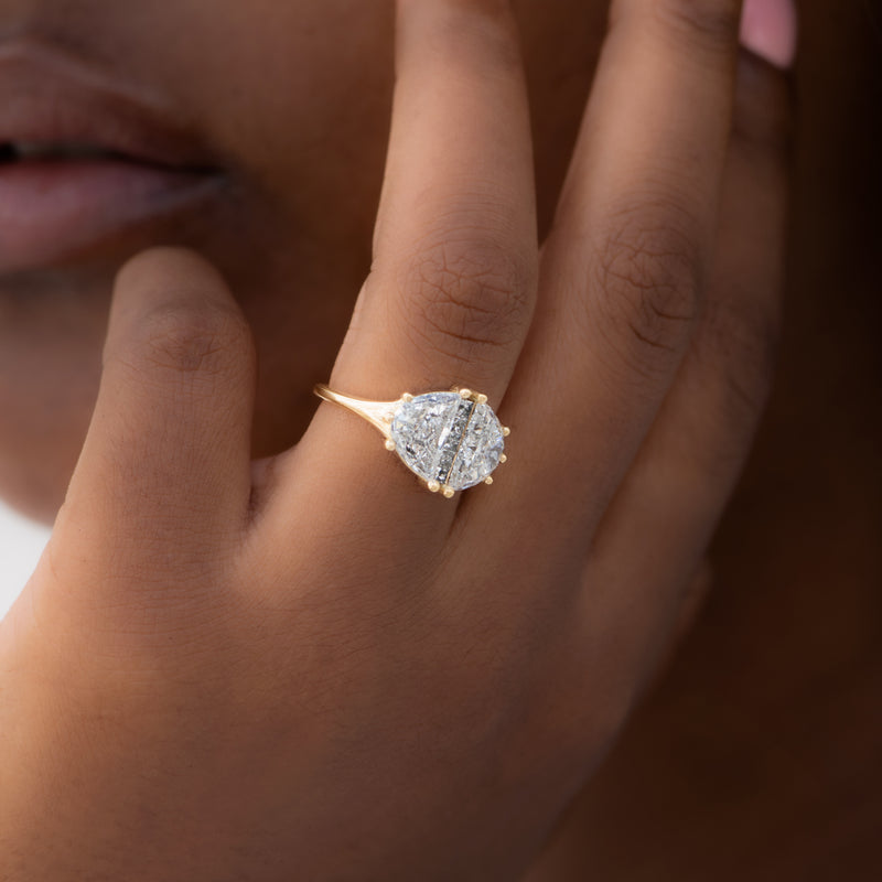 Two-Carat-Half-Moon-Engagement-Ring-with-Unique-Salt-and-Pepper-Diamonds-OOAK-side-shot