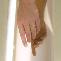 Gold Unicorn Ring - Thin Enamel Ring