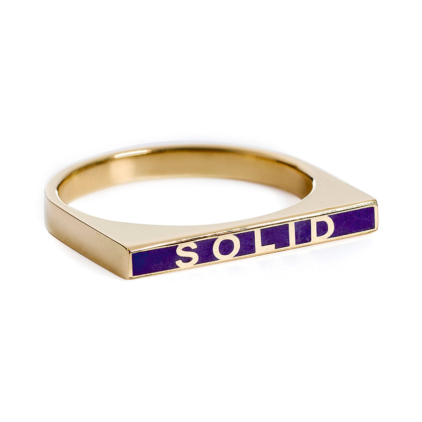 Men's Enamel Ring - SOLID