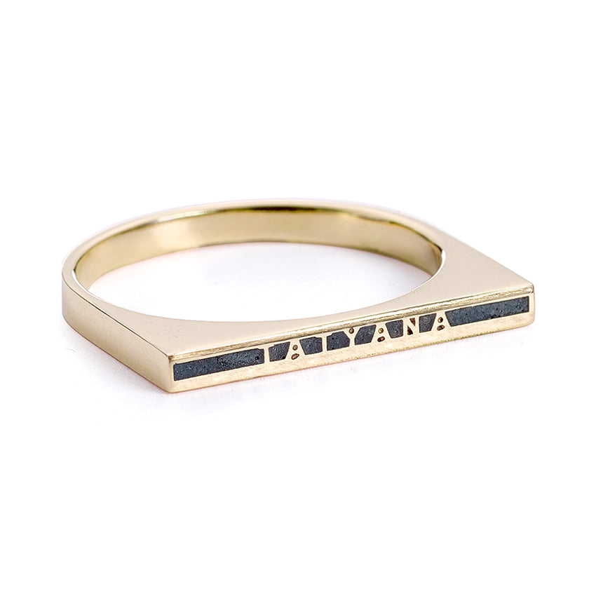 Thin Enamel Name Ring - Personalized Jewelry