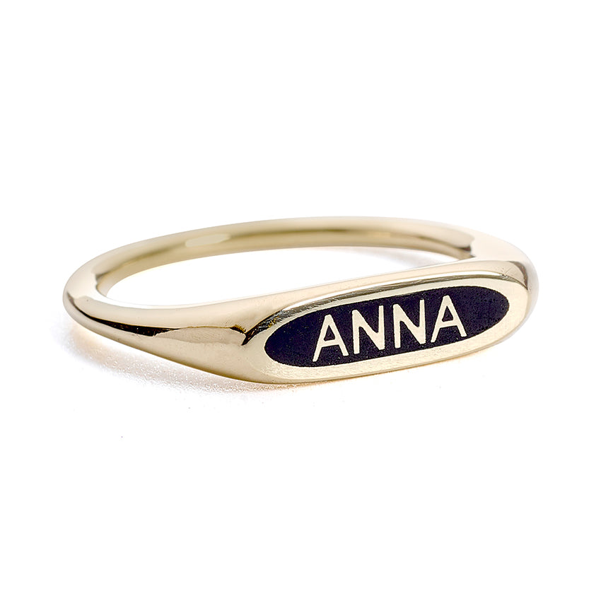 Gold Name Ring - Personalized Ring