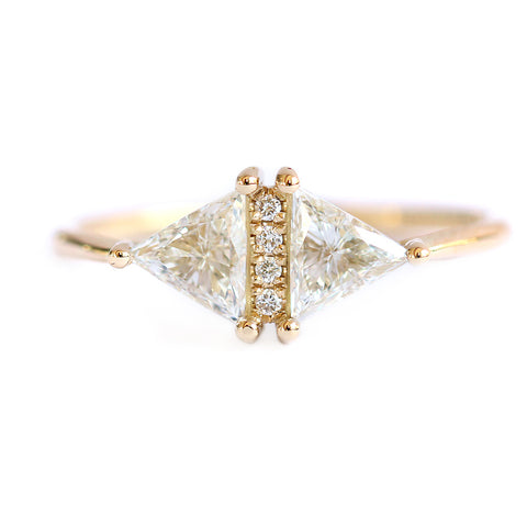 Bague triangle diamant vintage