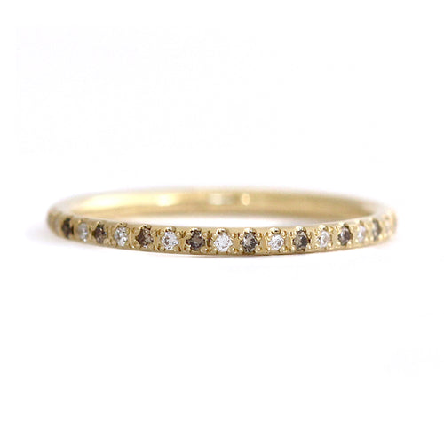 Weiß Und Champagner-Diamant Eternity Wedding Band