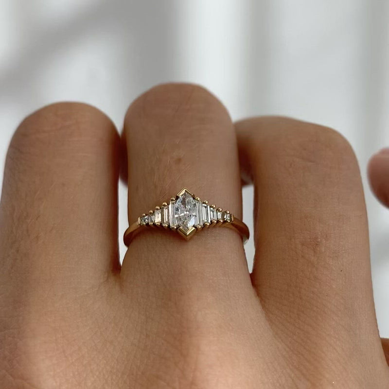 Dainty-Deco-Engagement-Ring-with-Marquise-Diamond-closeup-video