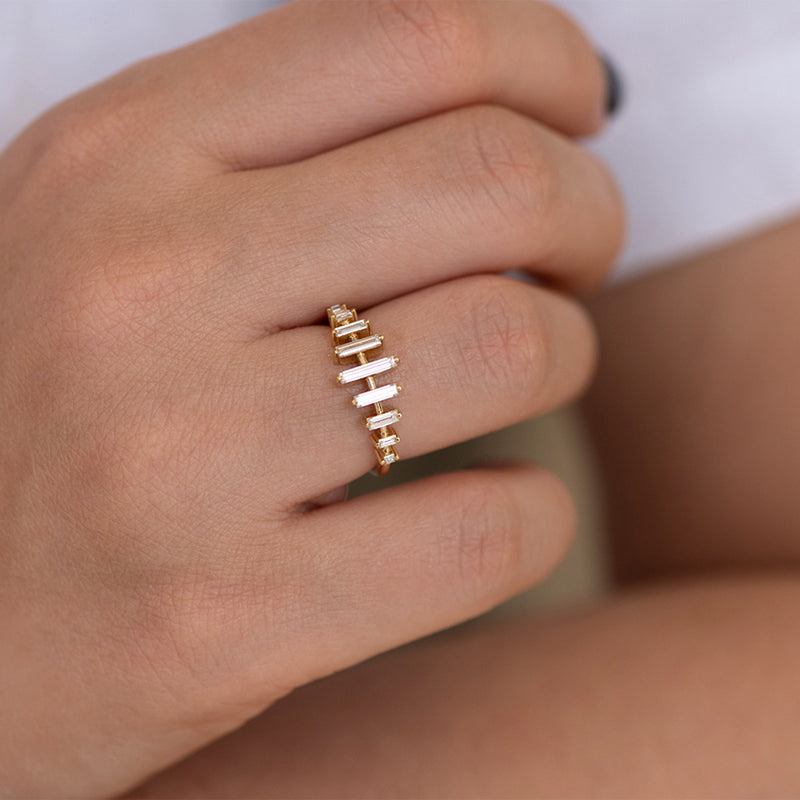 Spaced Needle Baguette Diamond Ring5