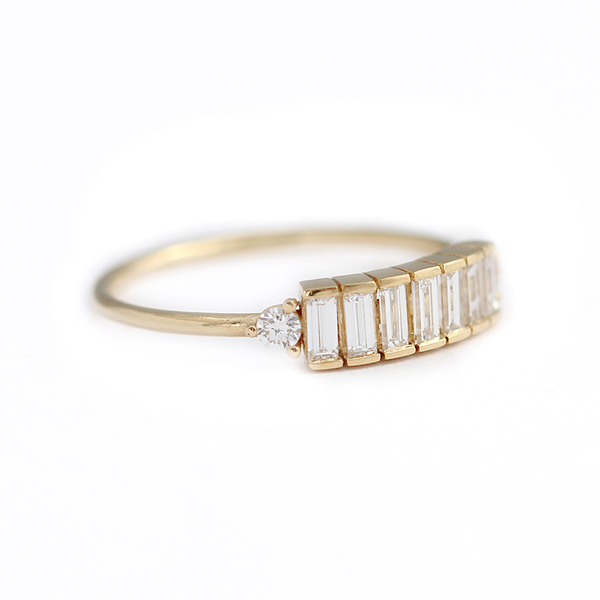 Baguette Diamond Band Baguette Ring Artemer