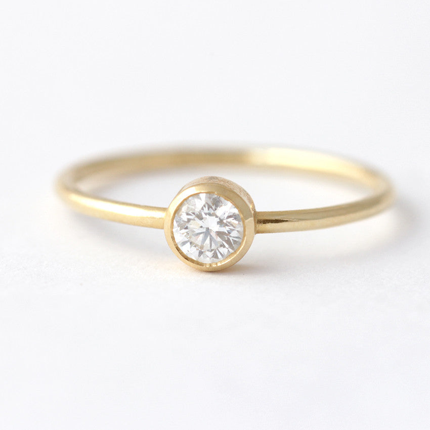 0.2 carat diamond ring