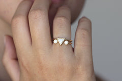 Conflict Free Diamonds Ring On Finger